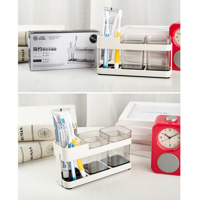 Two Removable Toothbrush Box Holder Cup Bathroom Storage Toilet Dental Liances Seat Creative Supplies