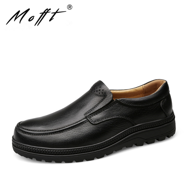 38 46 Big Size Handmade Leather Men Shoes Autumn Slip on Round Toe Men Leather Shoes