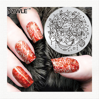 YZWLE hot sale round image plate nail art stamping plate decorations image