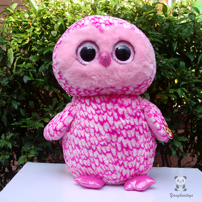 Lovely Big Eyes Large Toys Pink Owl Penguin Unicorn Dolls TY Plush  Stuffed Animals Children'S Toy Gift  Pillow ty collection beanie boos kids plush toys big eyes slick brown fox lovely children gifts kawaii stuffed animals dolls cute toys