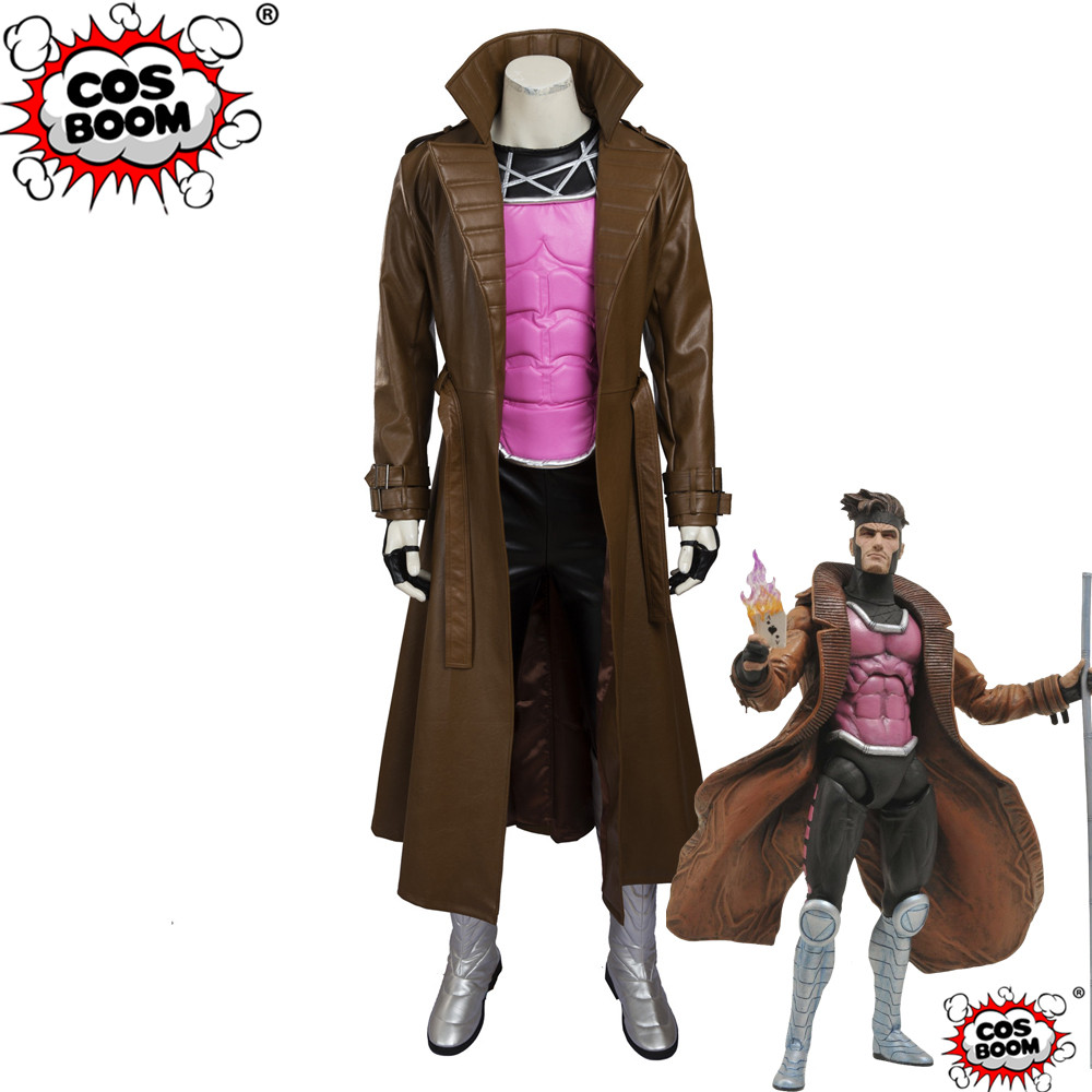 COSBOOM X-Men Gambit Costume Adult Men's Superhero Halloween Costumes X-Men Gambit Cosplay Marvel Costume