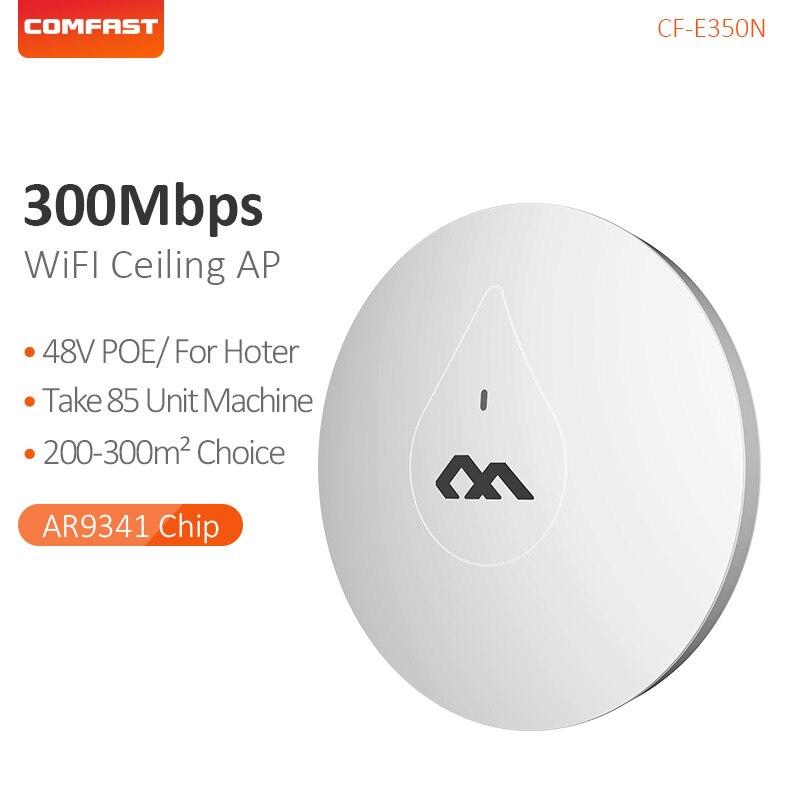 COMFAST 300 M plafond intérieur AP à travers le mur puissant 48 V POE adaptateur Wi fi routeur Point d'accès Signal Amplier AP CF-E350N
