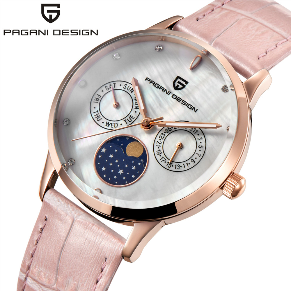 PAGANI DESIGN Top Brand Luxury Quartz Watch Women Ladies Elegance Business Leather Strap Watches Waterproof Relogio Feminino сыворотка caudalie кодали виносурс сыворотка sos увлажняющая флакон с помпой 30 мл