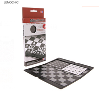 LEMOCHIC Pocket Mini International Chess Set Board Magnetic Portable Checkers Set Traveler Plane Easy To Carry