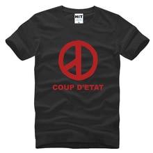 Bigbang G-Dragon COUP D'ETAT Printed Mens Men T Shirt Tshirt Fashion 2015 New Short Sleeve Cotton T-shirt Tee Camisetas Hombre