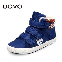 UOVO Брендовая детская обувь модные кроссовки для мальчиков теплая спортивная обувь детская повседневная школьная обувь для больших детей Размер 30 # 36 #big kids sneakerssneakers for boyskids casual shoes  АлиЭкспресс