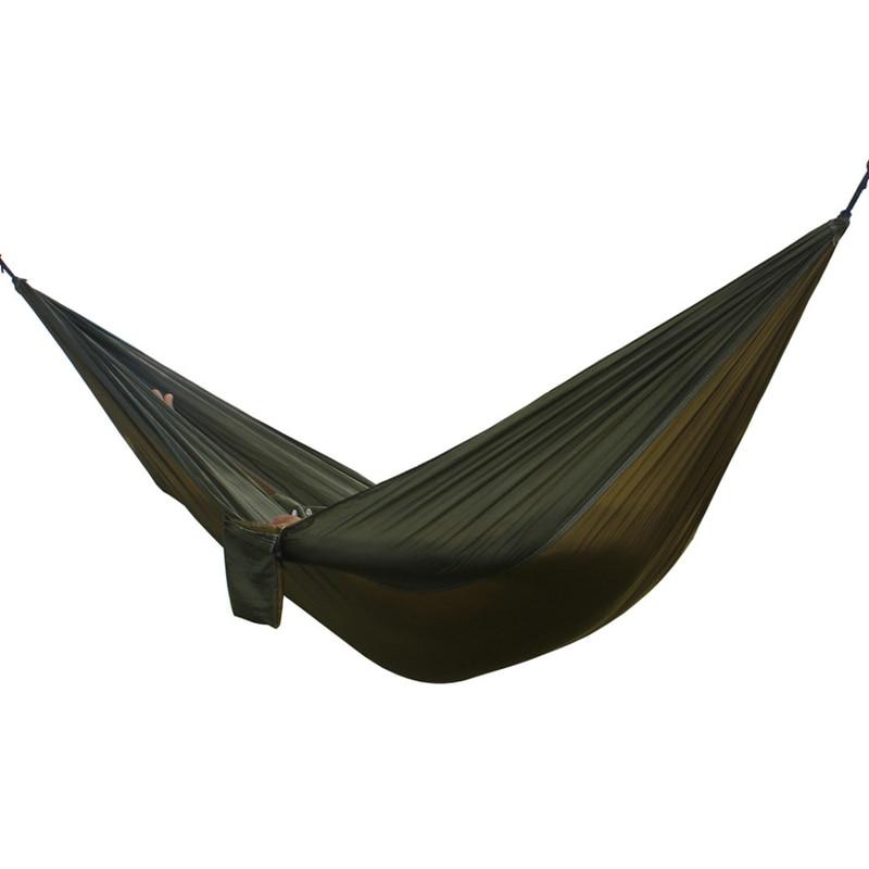 Outdoor double Hammock Portable Parachute Cloth 2 Person hamaca hamak rede Garden hanging chair sleeping travel swing hamac моторное масло motul garden 4t 10w 30 2 л
