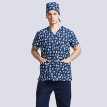ФОТО medico uniformes hospital women men medical robe scrub tops clothing dental clinicos beauty salon nurse work wear surgical suits