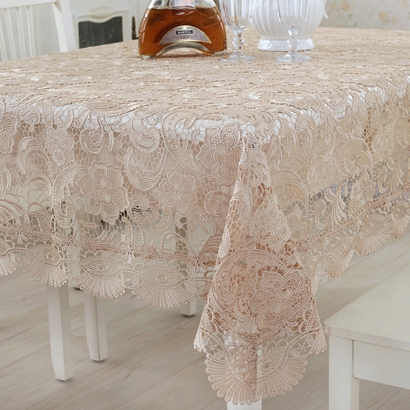 5 Sizes Optional Embroidered European Lace Tablecloth Tea