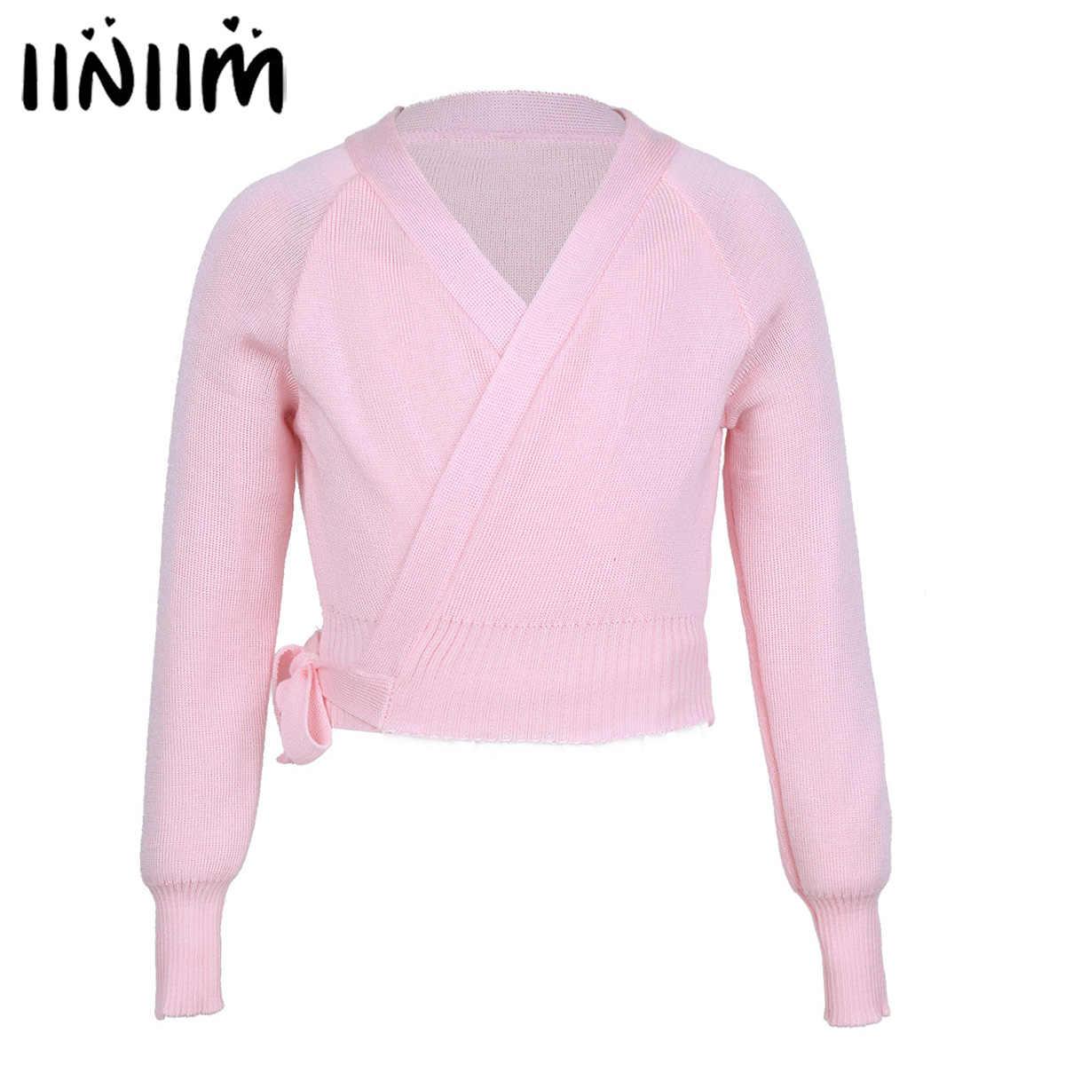 0f6a88296 Kids Girls Spring Tutu Ballet Clothing Knit Wrap Sweater Ballerina Ballet  Dance Cardigan Warm-up
