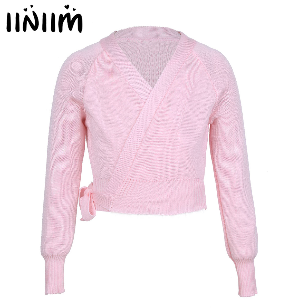 Kids Girls Spring Tutu Ballet Clothing Knit Wrap Sweater Ballerina Ballet Dance Cardigan Warm-up Gymnastics Dancing Costumes