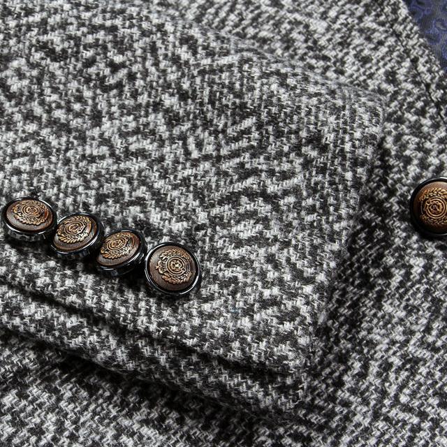 Men Blazer Designs Mens Elbow Patch Blazer Slim Fit Gray Suit Jacket Wedding Dress Luxury Brand Clothing Terno Masculino Q64