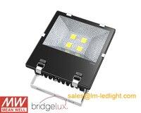 6 шт./лот Meanwell Bridgelux IP65 Водонепроницаемый 200 Вт Светодиодный прожектор с DHL Бесплатная доставка