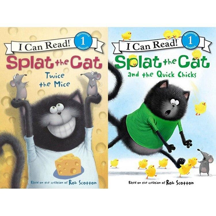 16 livres + 2 CD AUDIO je peux lire! SPLAT le chat coloriage livres pour enfants enfants anglais histoire livre ensemble début Educaction lecture - 3