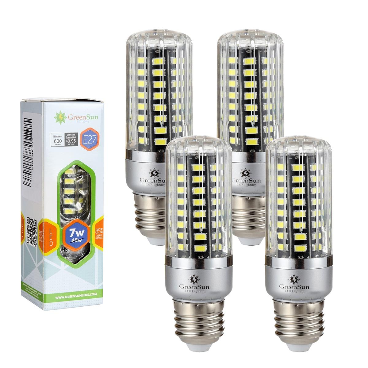 Full Watt Smart IC E27 5736 SMD LED Corn Bulb 4/10 PCS 220V 3W/5W/7W/9W/12W/15W Lamp LED No Flicker Light Bulbs led bulb e27 3w 5w 7w 9w 12w 15w real power 220v energy saving led lamp aluminium 2835smd led spotlight bulb smart ic no flicker