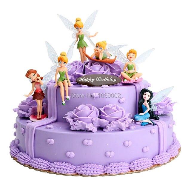 6 Pcs Free Shipping Girl Princess Lovely Diy Children Birthday Cake