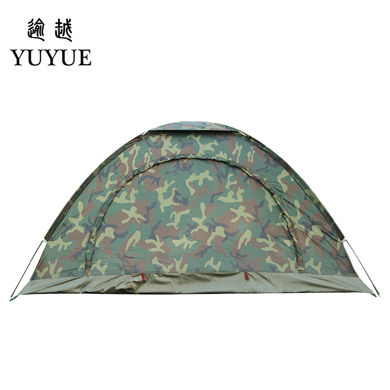 Cheap price double resident tent for outdoor mountain camouflage tent no-see-um mesh for hiking hunting camping car tent 1