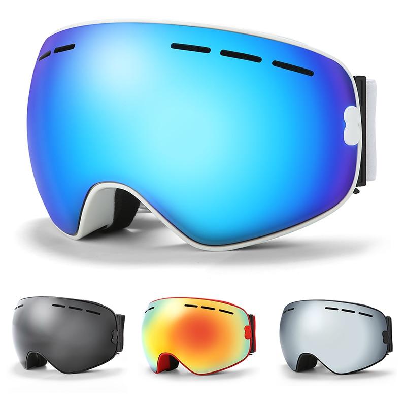 KUTOOK lunettes de Ski Double couche Snowboard Ski lunettes hiver coupe-vent neige lunettes UV400 Protection Ski masque motoneige lunettes