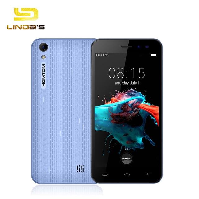 Homtom HT16 Mobile Phone 5 Inch HD 1280x720 IPS MTK6580 Quad Core Android 6.0 1GB RAM 8GB ROM 5MP 3G Dual Sim 3000mAh
