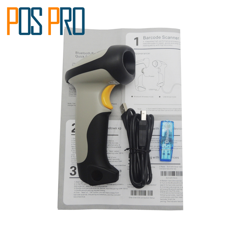 IPBS034 CT10 Wireless Bluetooth 1D Barcode Scanner Barcode reader W/ Auto Induction for iOS, Android windows