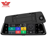ANSTAR 4G 10 IPS Dvr Car 1080P Dual Lens Car DVR Camera Auto Bluetooth FM Rearview Mirror Video Recorder GPS Navigation Russian