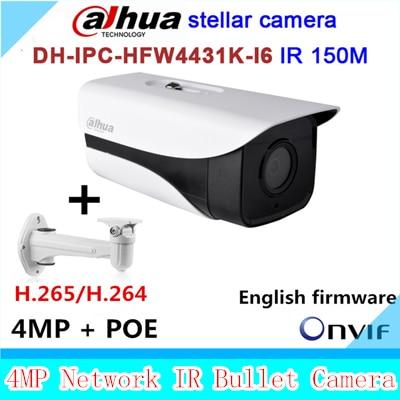 Original Dahua stellar camera 4MP DH-IPC-HFW4431K-I6 Network IP IR Bullet H265 H264 SD card slot IPC-HFW4431K-I6 original dahua stellar camera 4mp dh ipc hfw4431k i6 network ip ir bullet h265 h264 sd card slot ipc hfw4431k i6