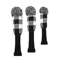 golf clubs headcover lattice Knitting wool Fairway wood Headcover Golf Accessories 3pcs/set free shipping