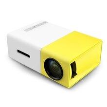 [Auténtica] Original 300 LED Portátil Proyector 500LM 3.5mm de Audio 320x240 Pixel HDMI USB Mini YG-300 Proyector Multimedia Para El Hogar jugador