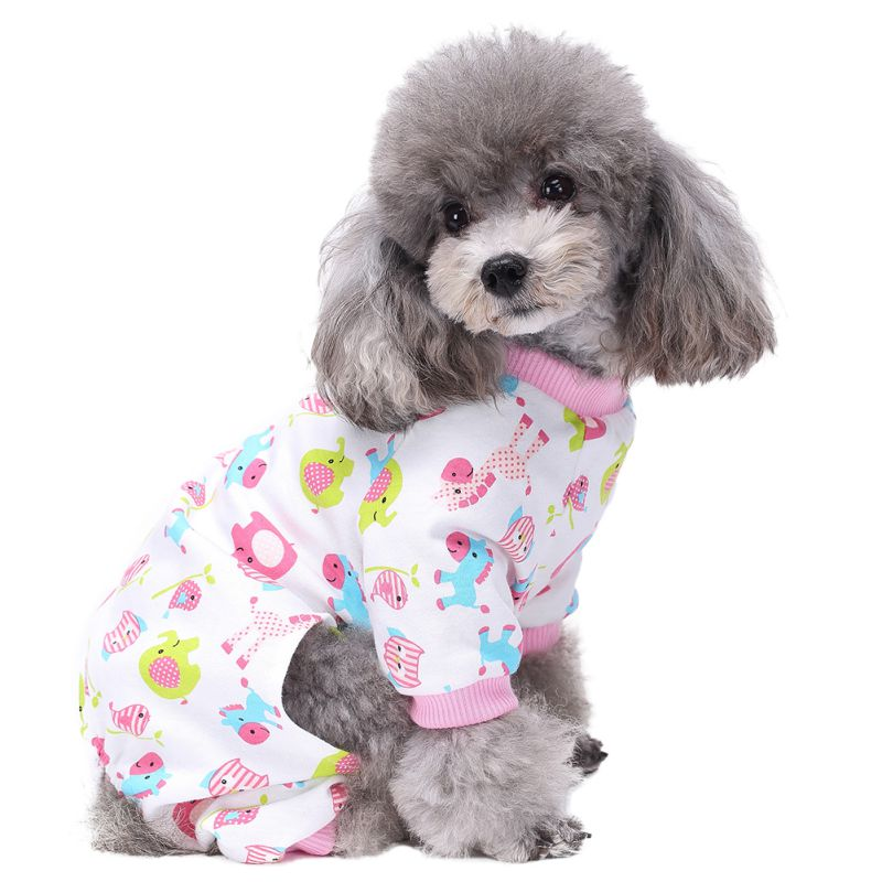 Cute Pony Dog  Print Pajamas Comfy Cotton Pet PJS Shirts Pink Blue Dogs Clothes And J new