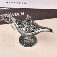 Vintage Retro Hollow Out Fairy Tale Aladdin Magic Lamp Tea Pot Genie Lamp Toy For Home Decoration Ornaments Gift