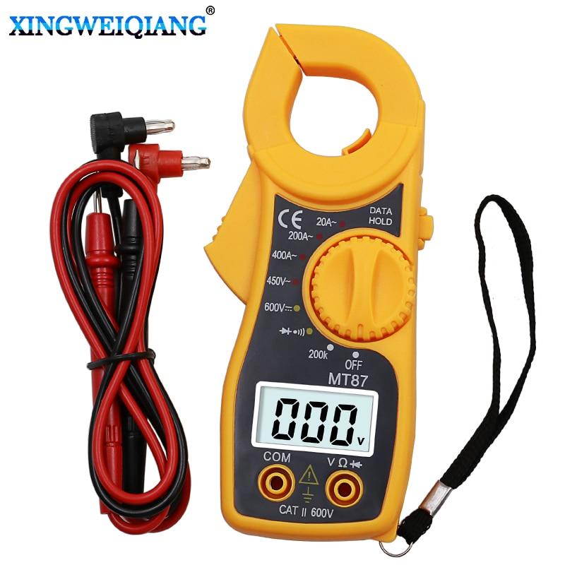 Красный цифровой мультиметр MT87 Amper, токоизмерительный клещи, тестер переменного и постоянного тока|Мультиметры| | АлиЭкспресс