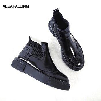 Aleafalling/классическая женская обувь без шнуровки для зрелых женщин, Botas, женские модные ботильоны, рабочие ботинки, женская уличная обувь, WBT263