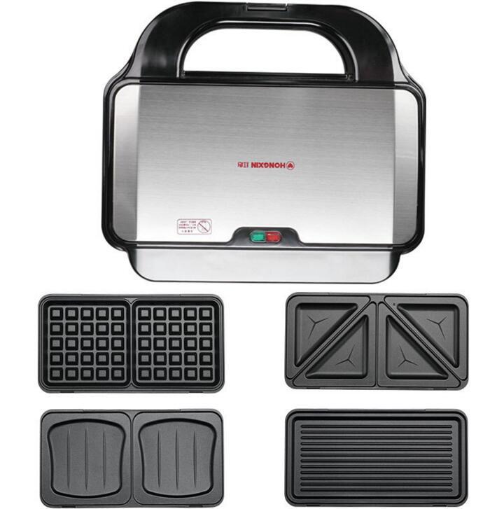 Máquina eléctrica doméstica para hacer waffles, sandwichera, máquina de sándwich ajustable con temperatura, 220 V, SW-93 de herramientas para electrodomésticos de cocina - 2