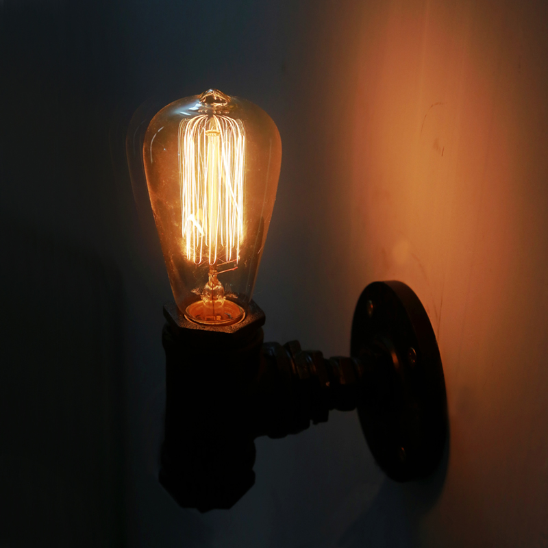 Vintage Nostalgic Industrial Antique Lustre Loft Water Pipe Edison Wall Sconce Lamp Bar Coffee Hotel Modern Home Decor Lighting купить