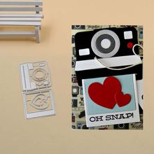 Heart Acoustics Metal Cutting Dies Stencils for DIY Scrapbook Photo Album Paper Card Decorative Craft Embossing Die(China)