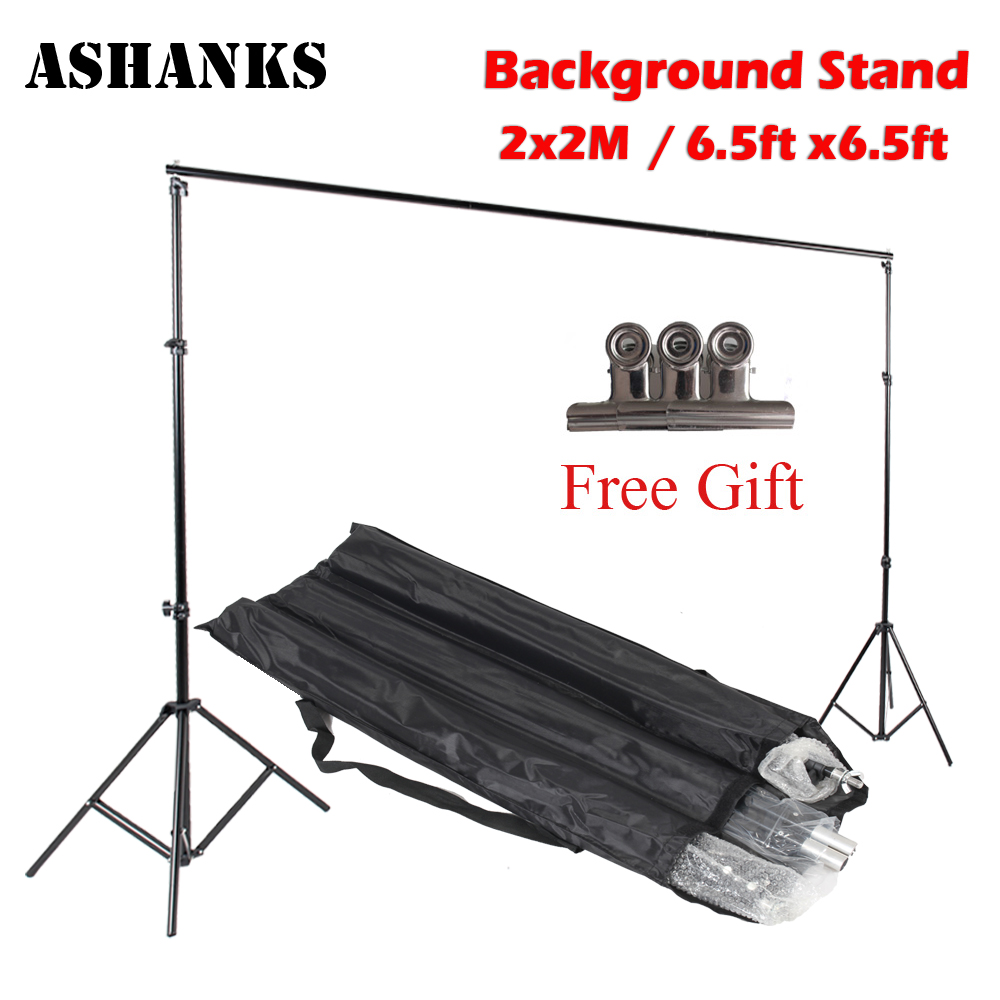 ASHANKS 6.5FT Background Stand Studio Pro Photography Photo Video Backdrop Support System with Carry Bag for Camara Fotografica ashanks pro photography studio photo backdrops frame background support system 2m x 2 4m stands for photo shoot carry bag
