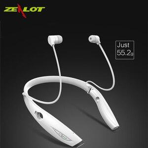 Image 1 - ZEALOT H1 impermeabile Pieghevole cuffie Senza Fili Auricolare audifonos fone Bluetooth Stereo Sportivo Auricolare HiFi Led Cuff