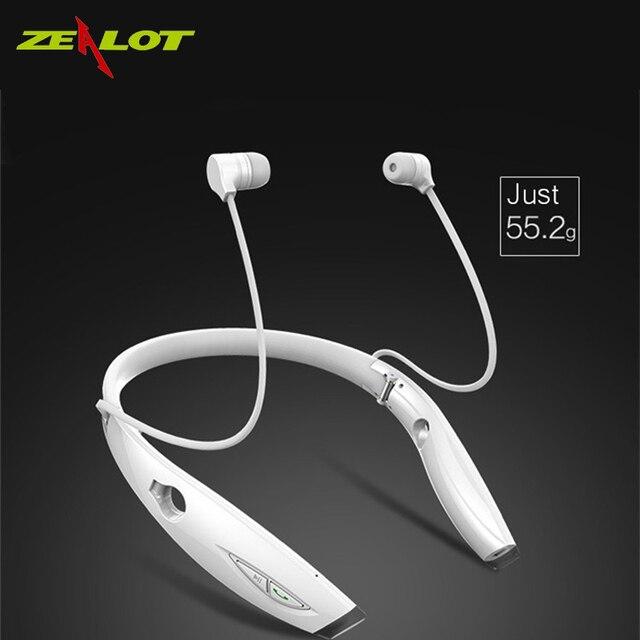 Zealot h1 impermeável pieghevole cuffie senza auricolare audifonos fone de ouvido estéreo bluetooth sportivo auricolare alta fidelidade led manguito