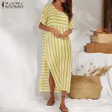 2021 Лето zanzea для женщин Открытое платье без рукавов в полоску