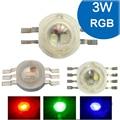 1 2 5 10 pcs 3 W RGBW RGB Vermelho Verde Azul Branco 4 6 8 pin LED Chip Lâmpada Luz Blub Dioded Parte + 20mm Estrela Para Foodlight Holofotes