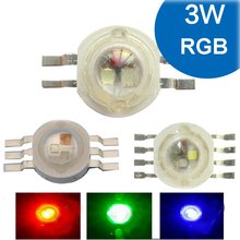 1 2 5 10pcs 3W RGB RGBW Red Green Blue White 4 6 8 pin LED Bead Blub Chip Light Lamp Part + 20mm Star For Foodlight Spotlight