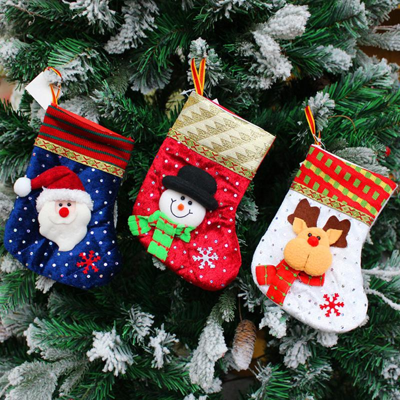 2017 New 3 Styles Santa Claus Snowman Elk Socks Christmas Gift Bag New Year Christmas Decorations For Home Christmas Stocking Y6