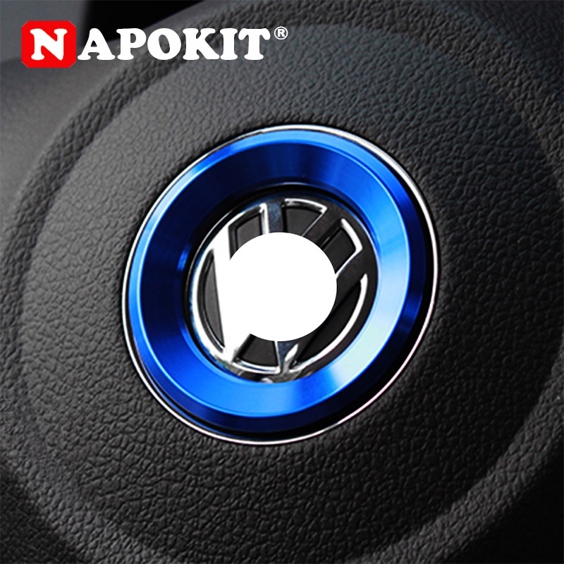 Car Styling Steering Wheel Logo Emblems Ring Decoration <font><b>Sticker</b></font> for Volkswagen <font><b>VW</b></font> <font><b>Passat</b></font> B7 B8 Bora POLO GOLF 6 7 Jetta MK6 RS image