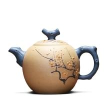 Настоящий чайник Zisha, полностью ручной работы, Исин,, минная фиолетовая грязь 320cc(с сертификатом