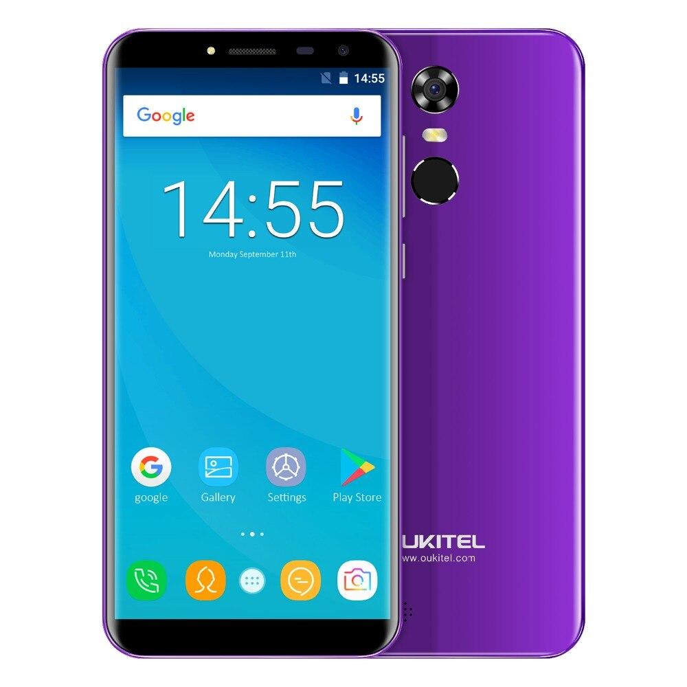 OUKITEL C8 MT6580A Quad Core Android 7.0 2 gb RAM + 16 gb ROM 3000 mah 13.0MP 5.5 pouce 18:9 HD Écran Tactile ID Smartphone