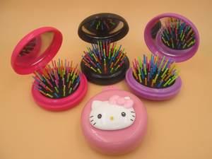 60c54321a hello kitty combs Girls women Portable Mini Folding Comb Airbag Massage  Round Travel