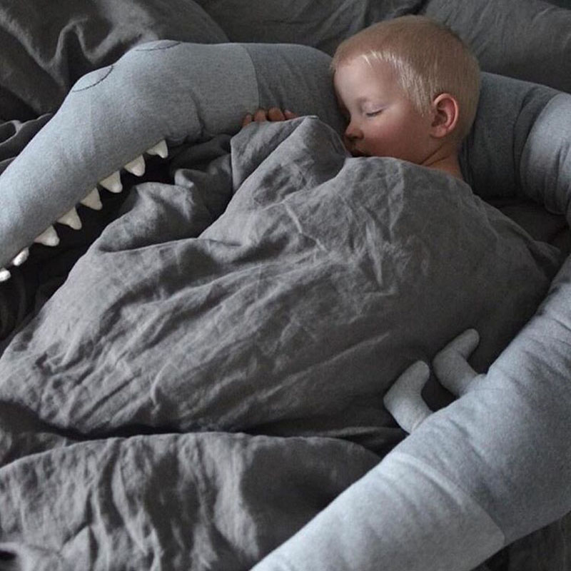 Comfortable 185cm Baby Pillow Children Crocodile Pillow Cushion Baby Infant Bed Crib Fence Bumper Kids Room Decoration Toys