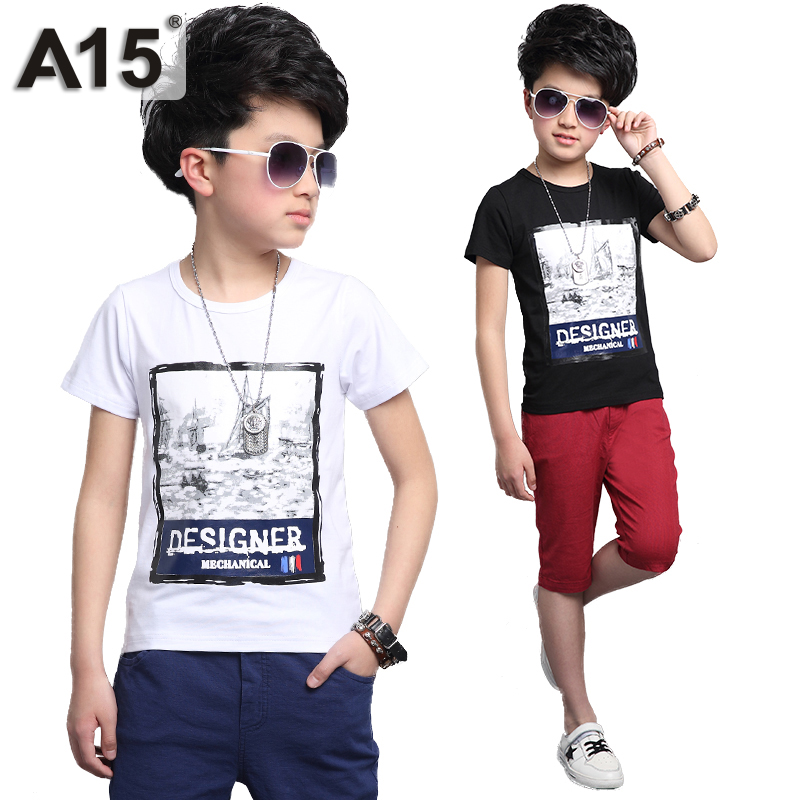 Buy a15 kids clothes boys 2017 summer for What size shirt for 8 year old boy