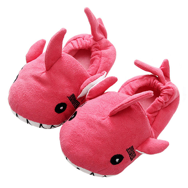 Boys Slippers Girls Shoes Winter Suede Cute Dolphin Floor Slippers ...