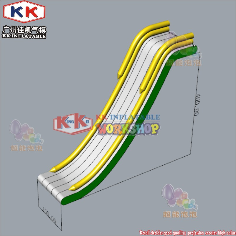 Ocean Quality Inflatable Slide On Yacht, Sea Park Airtight Inflatable Water Slide